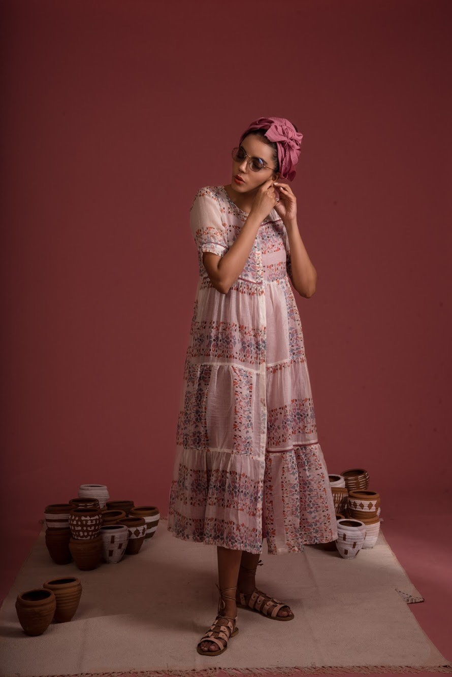 Afro Tiered Dress