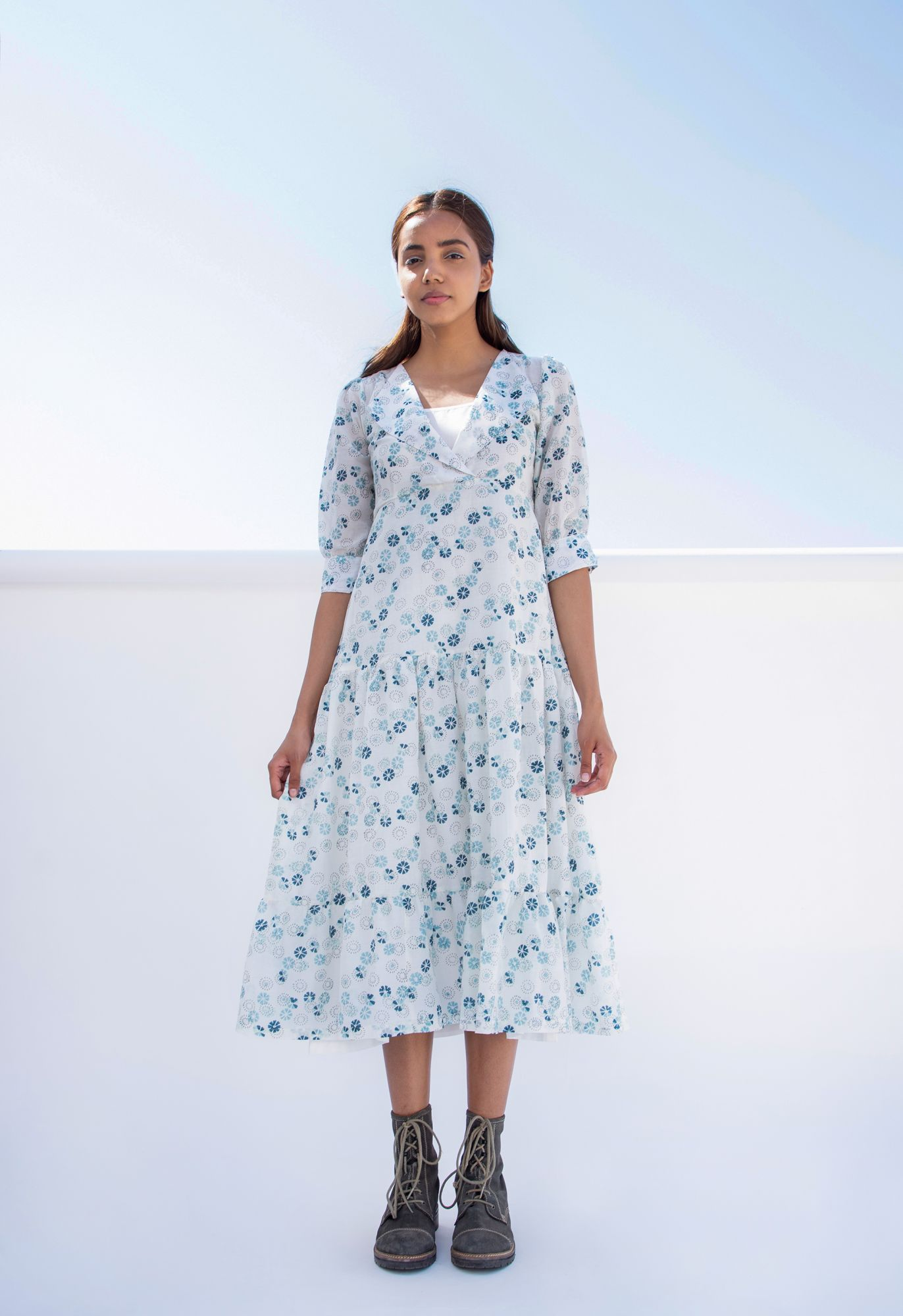 Summer Blue Flora Dress