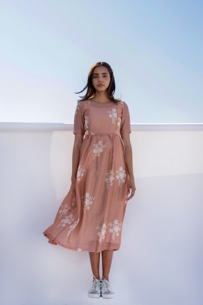 Rose Gold Flower Dress