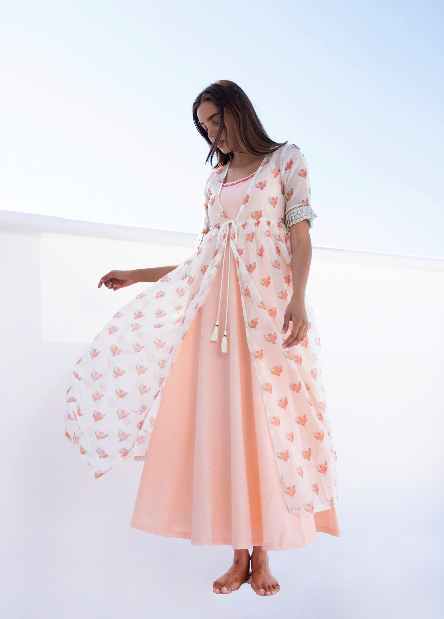 Masakali Peach Jacket set